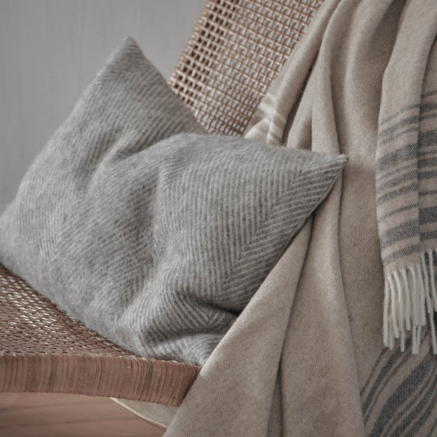 Gotland Cushion in grey & cream | Home & Living inspiration | URBANARA