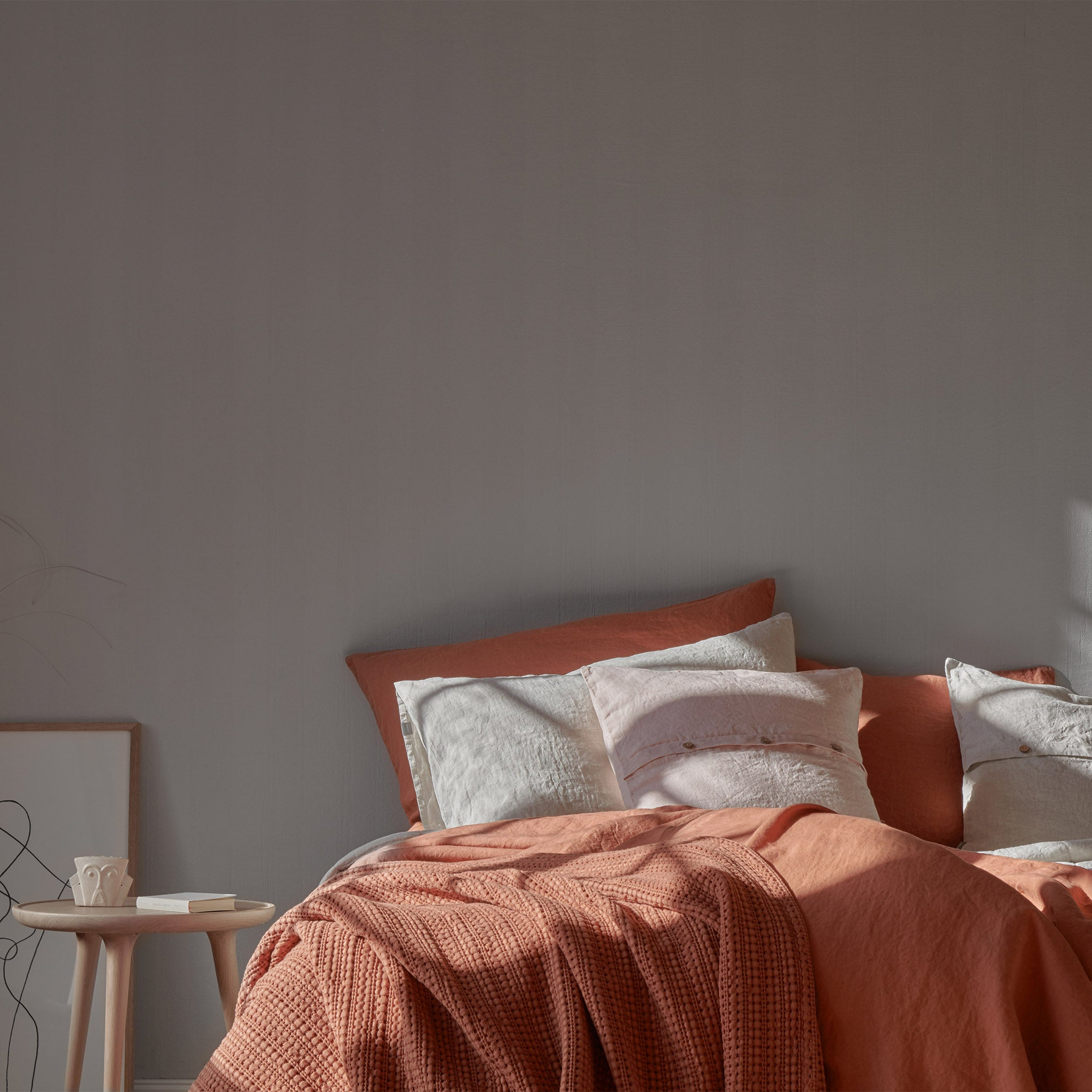 Mafalda Linen Bed Linen in terracotta | Home & Living inspiration | URBANARA