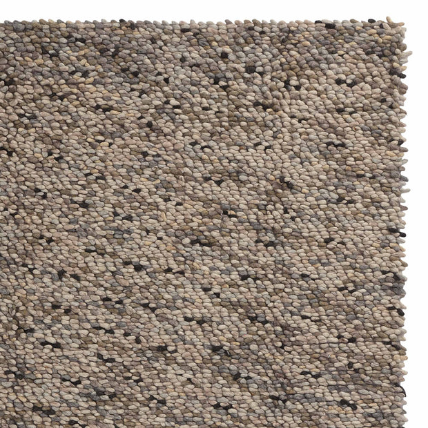 Thela rug, natural & stone grey & ivory, 75% wool & 25% cotton
