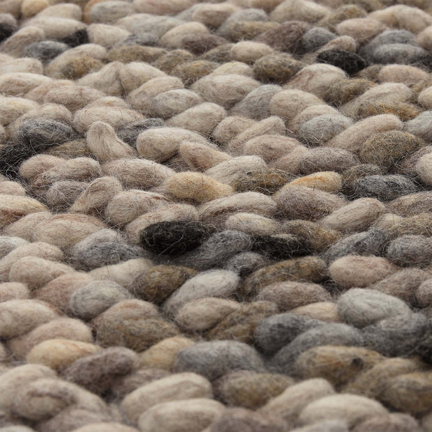 Thela rug, natural & stone grey & ivory, 75% wool & 25% cotton |High quality homewares