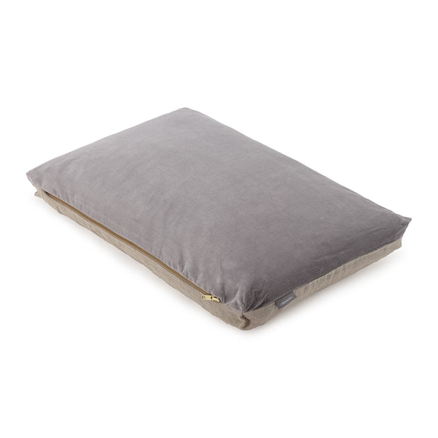 Tipani Cushion grey, 100% cotton & 100% linen