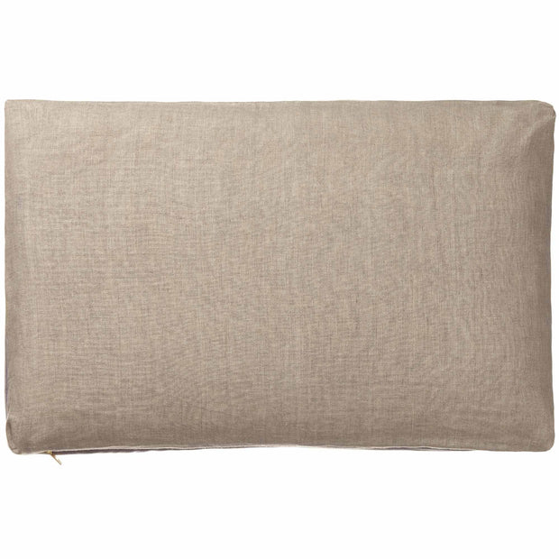 Tipani Cushion grey, 100% cotton & 100% linen | URBANARA cushion covers