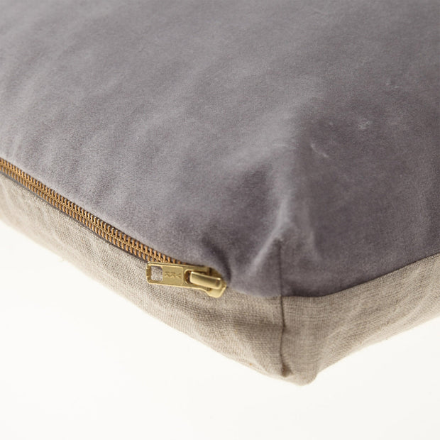 Tipani Cushion grey, 100% cotton & 100% linen | High quality homewares