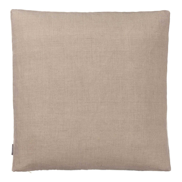 Tipani cushion, green grey, 100% cotton & 100% linen | URBANARA cushion covers