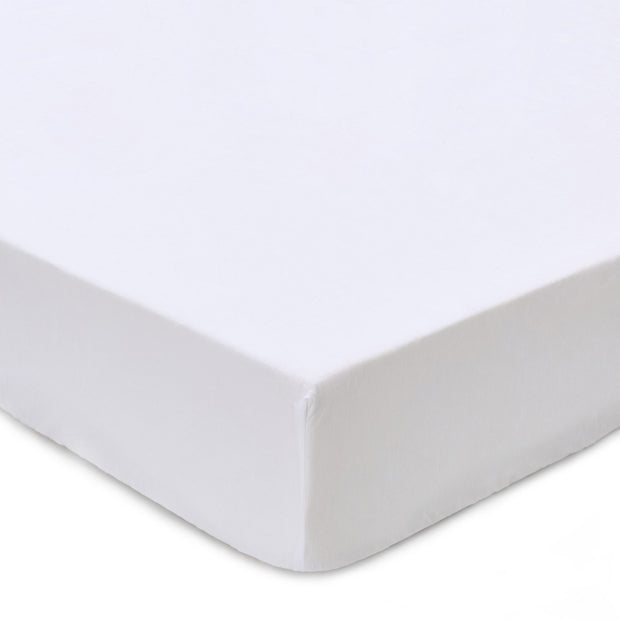 Toulon Fitted Sheet white, 100% linen