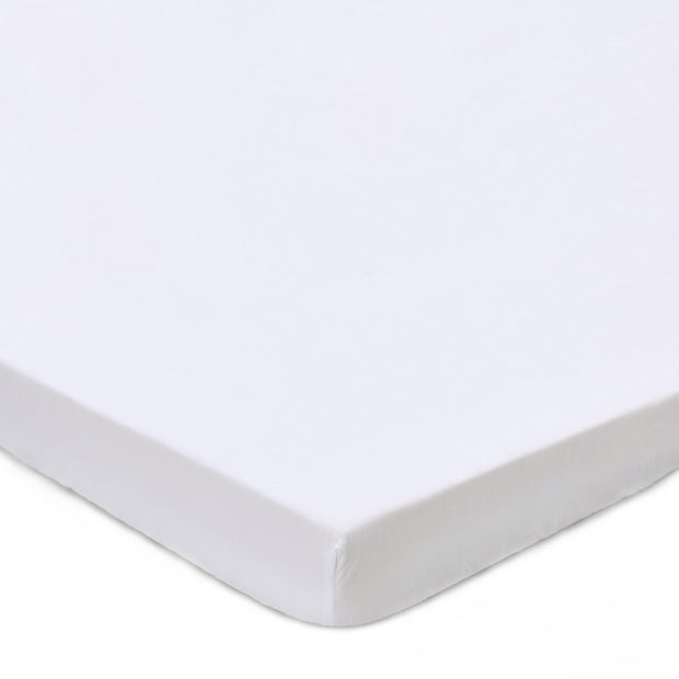 Toulon Mattress Topper Fitted Sheet white, 100% linen