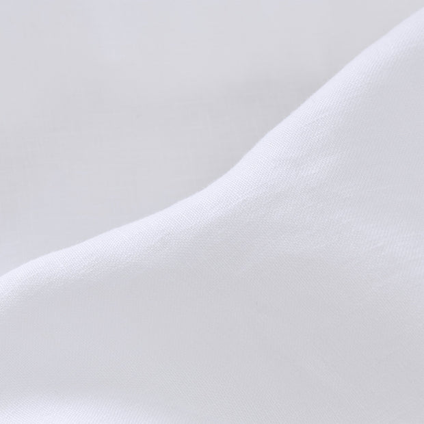 Toulon Fitted Sheet white, 100% linen | URBANARA fitted sheets