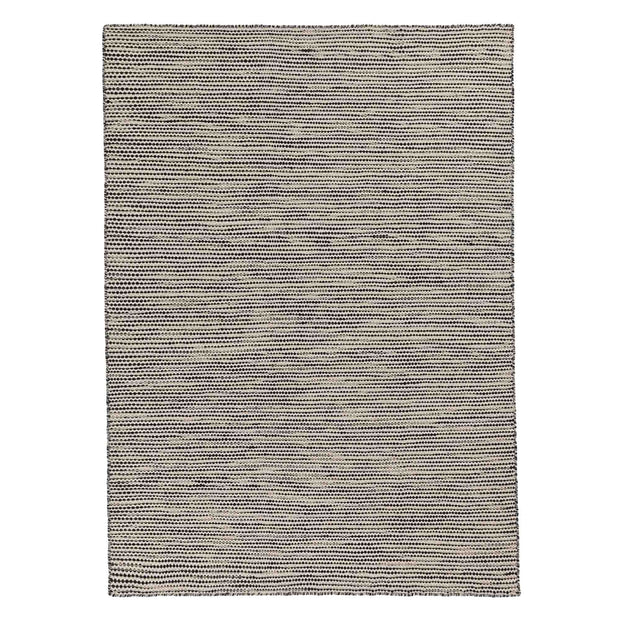 Udana rug, natural white & black & light grey, 100% wool | URBANARA wool rugs