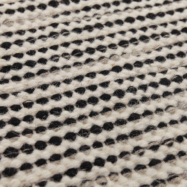 Udana runner, natural white & black & light grey, 100% wool | URBANARA runners