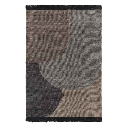 Umari Wool Rug charcoal melange & grey melange & grey brown melange, 100% wool