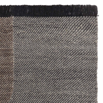 Umari Wool Rug in charcoal melange & grey melange & grey brown melange | Home & Living inspiration | URBANARA