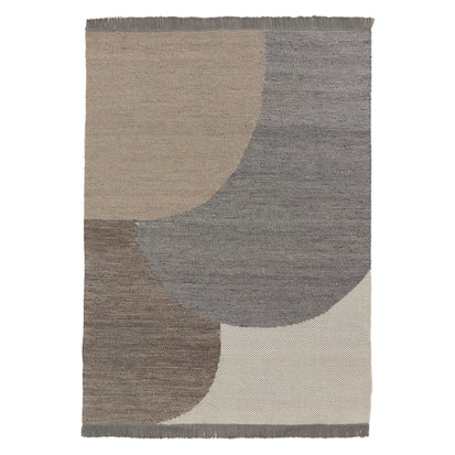 Umari Wool Rug grey melange & stone grey melange & natural white, 100% wool