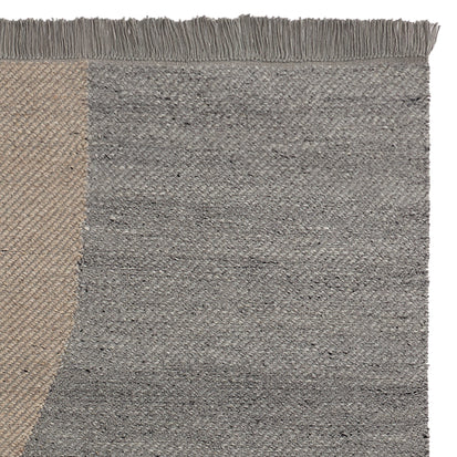 Umari Wool Rug in grey melange & stone grey melange & natural white | Home & Living inspiration | URBANARA
