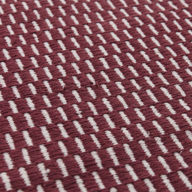 Upani rug, bordeaux red & natural, 100% cotton |High quality homewares