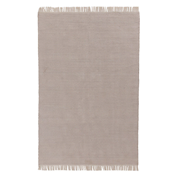 Upani Cotton Rug sandstone melange & natural white, 100% cotton | URBANARA cotton rugs