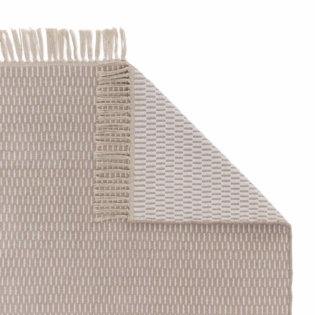 Upani Cotton Rug in sandstone melange & natural white | Home & Living inspiration | URBANARA
