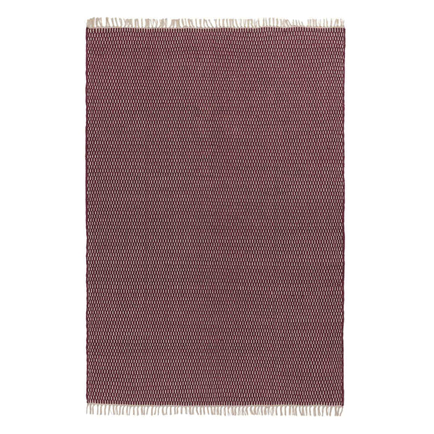 Upani rug, bordeaux red & natural, 100% cotton | URBANARA cotton rugs