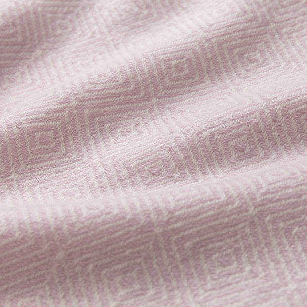 Uyuni Cashmere Blanket powder pink & cream, 100% cashmere wool | High quality homewares