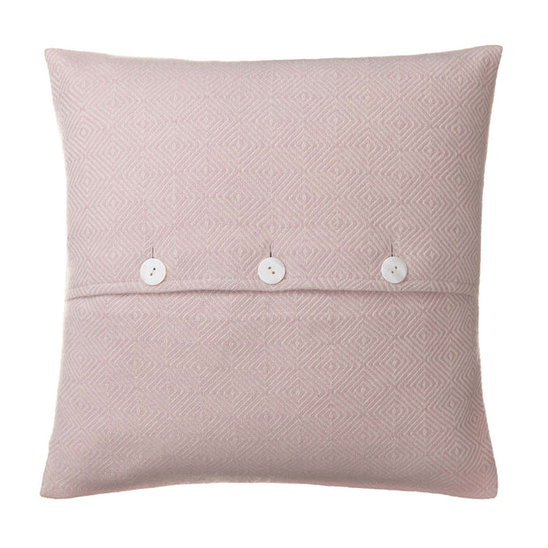 Uyuni cushion cover in powder pink & cream, 100% cashmere wool |Find the perfect cushion covers