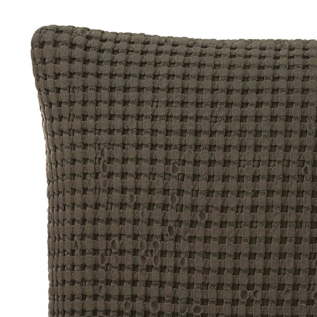 Veiros Sao cushion cover, moss green, 100% cotton | URBANARA cushion covers