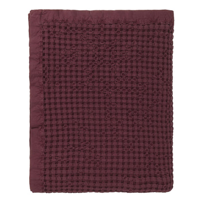 Veiros Sao bedspread, bordeaux red, 100% cotton