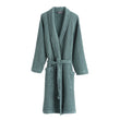 Veiros Bathrobe green grey, 100% cotton