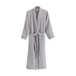 Ventosa Organic Cotton Bathrobe grey & white, 100% organic cotton
