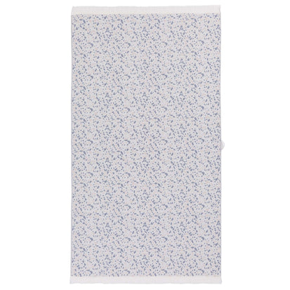 Verin beach towel, off-white & ultramarine & light pink, 100% cotton