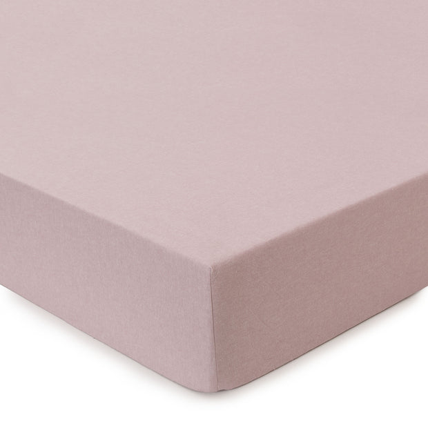 Vilar Flannel Fitted Sheet light mauve, 100% organic cotton