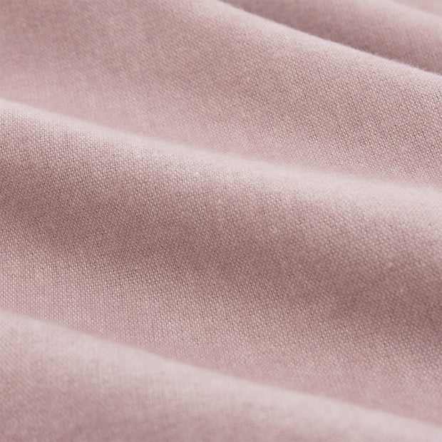 Vilar Flannel Fitted Sheet light mauve, 100% organic cotton | High quality homewares