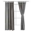 Vinstra Curtain Set blue & natural white, 100% linen
