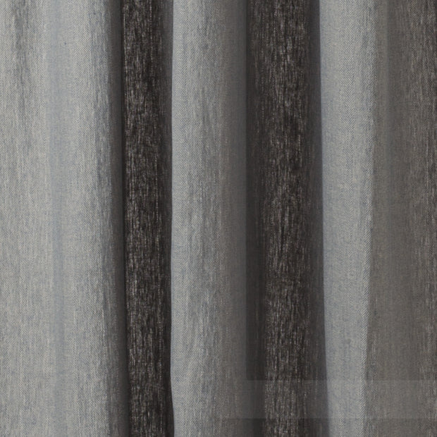 Vinstra Curtain Set blue & natural white, 100% linen | URBANARA curtains