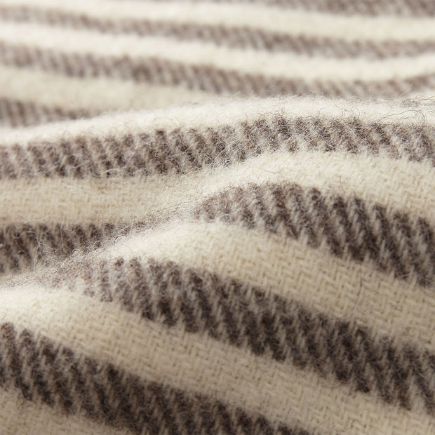 Visby Wool Blanket brown & cream, 100% new wool | High quality homewares