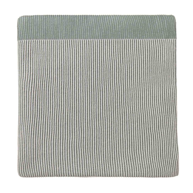 Viseu blanket, aloe green & ivory & green grey, 100% cotton