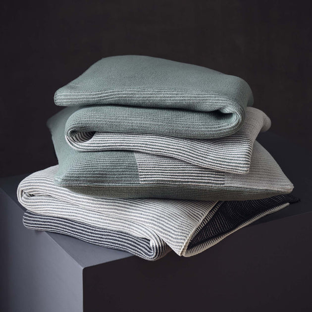 Viseu Cotton Blanket [Aloe green/Ivory/Green grey]