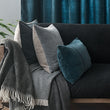 Amreli cushion in teal & natural, 100% cotton & 100% linen |Find the perfect cushion covers