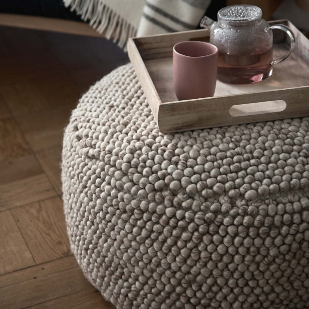 Natural white Ravi Pouf | Home & Living inspiration | URBANARA