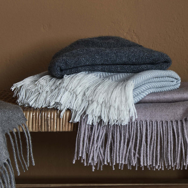 Nerva Cashmere Blanket in mint & cream | Home & Living inspiration | URBANARA