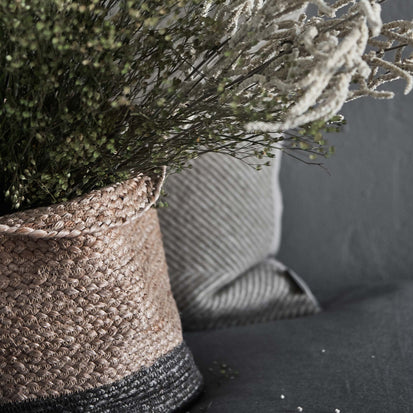Dasai Basket, Set of 2 in natural & charcoal | Home & Living inspiration | URBANARA