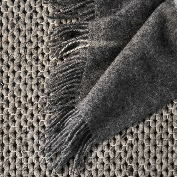 Saldus Wool Blanket in grey & cream | Home & Living inspiration | URBANARA