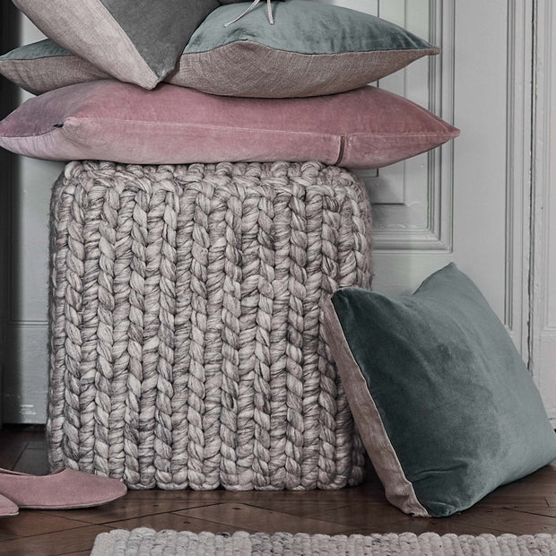 Light grey melange Jadao Pouf | Home & Living inspiration | URBANARA