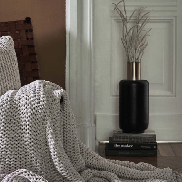 Black & Brass Dapoli Vase | Home & Living inspiration | URBANARA