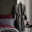 Veiros bathrobe, light grey, 100% cotton | URBANARA bathrobes