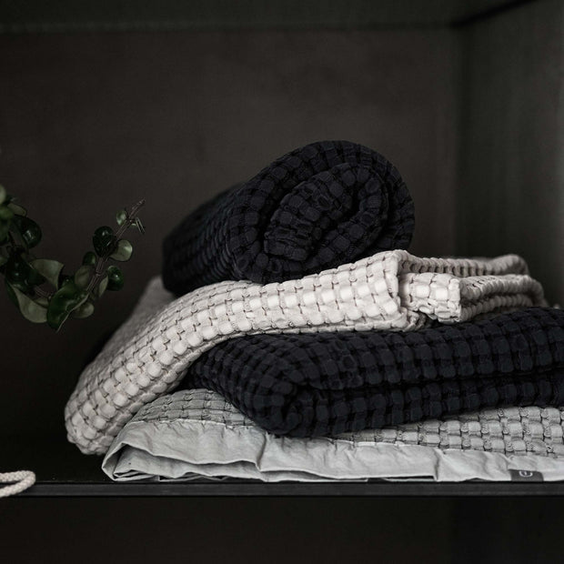Veiros Towel in charcoal | Home & Living inspiration | URBANARA