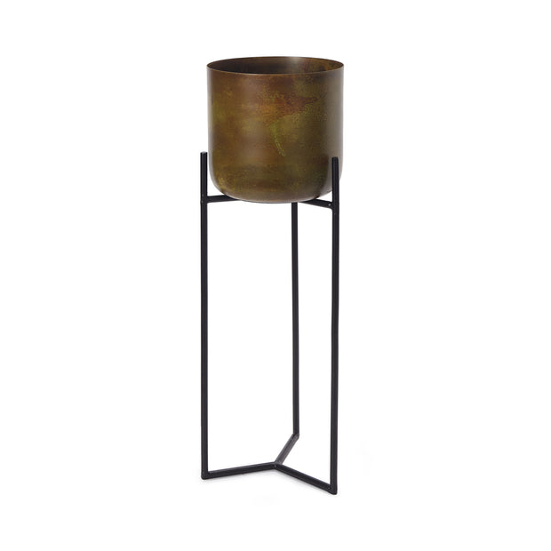 Zaroli Planter brass & mustard, 100% metal | URBANARA living accessories
