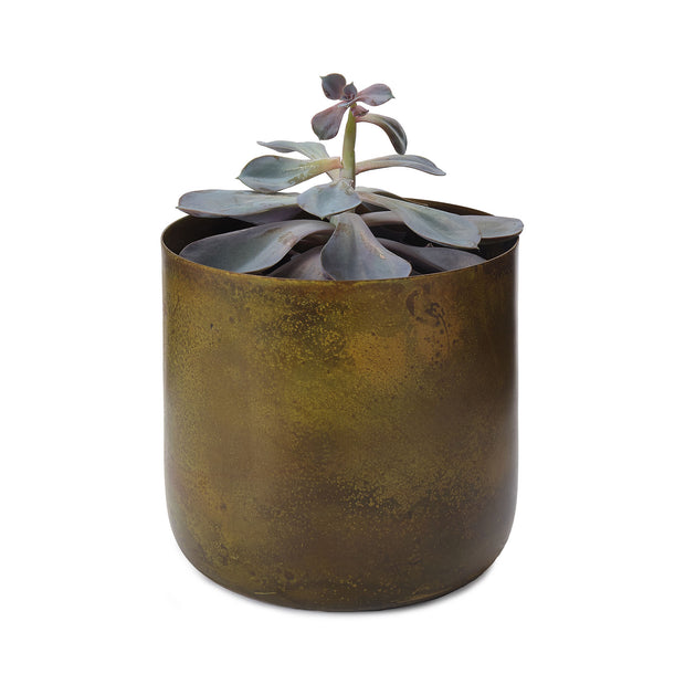 Zaroli Planter in brass & mustard | Home & Living inspiration | URBANARA