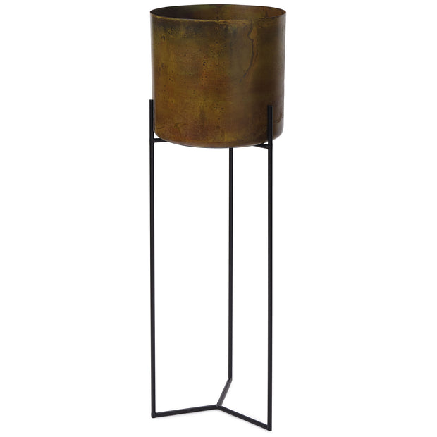 Zaroli Planter mustard, 100% metal | URBANARA living accessories