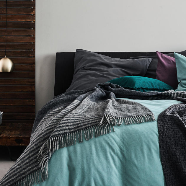 Montrose Flannel Bed Linen in green grey | Home & Living inspiration | URBANARA