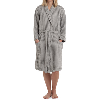 Veiros Bathrobe [Light grey]