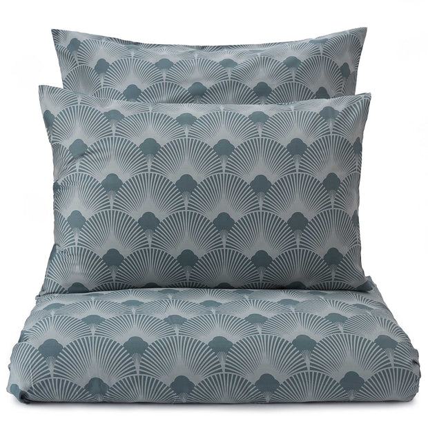 Zamora pillowcase, light green grey & green grey, 100% cotton